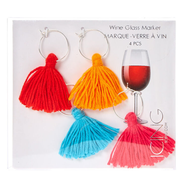 Tassel Wine Glass Marker Rings,