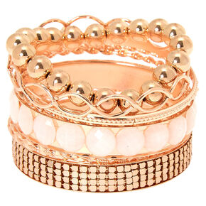 Rose Gold Assorted Bracelets - 9 Pack,