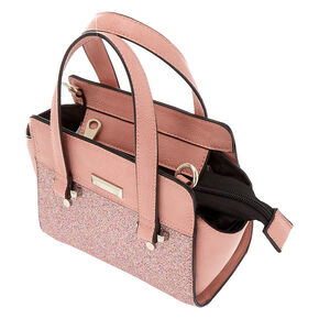 Glitter Mini Satchel Crossbody Bag - Pink,