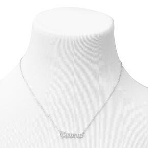 Silver Gothic Zodiac Pendant Necklace - Taurus,