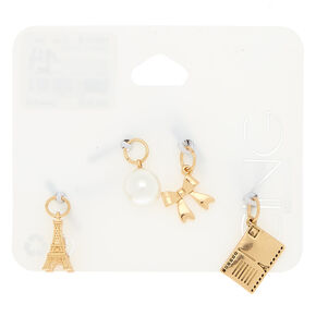 Gold Paris Charms - 4 Pack,
