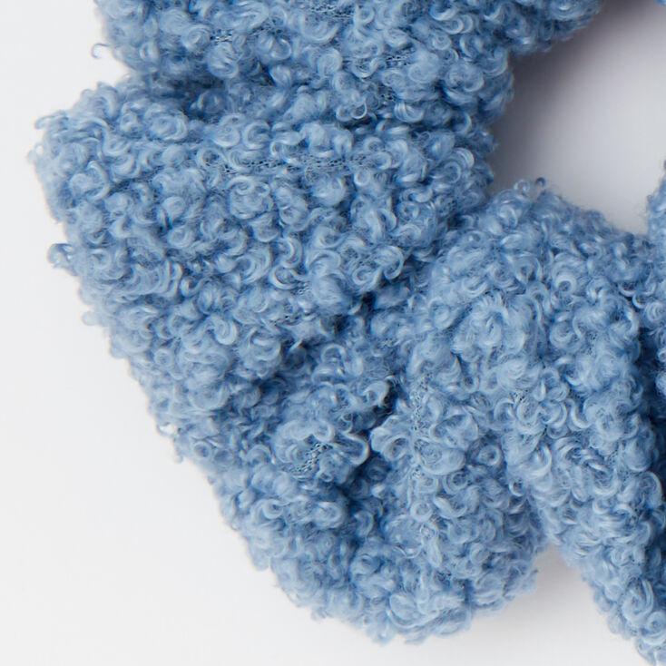 Medium Teddy Hair Scrunchie - Light Blue,