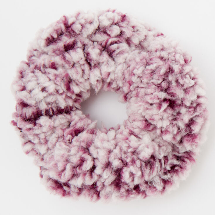 Medium Teddy Hair Scrunchie - Burgundy,