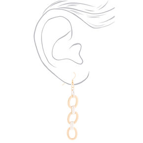 Gold & Silver Chain Drop Earrings,