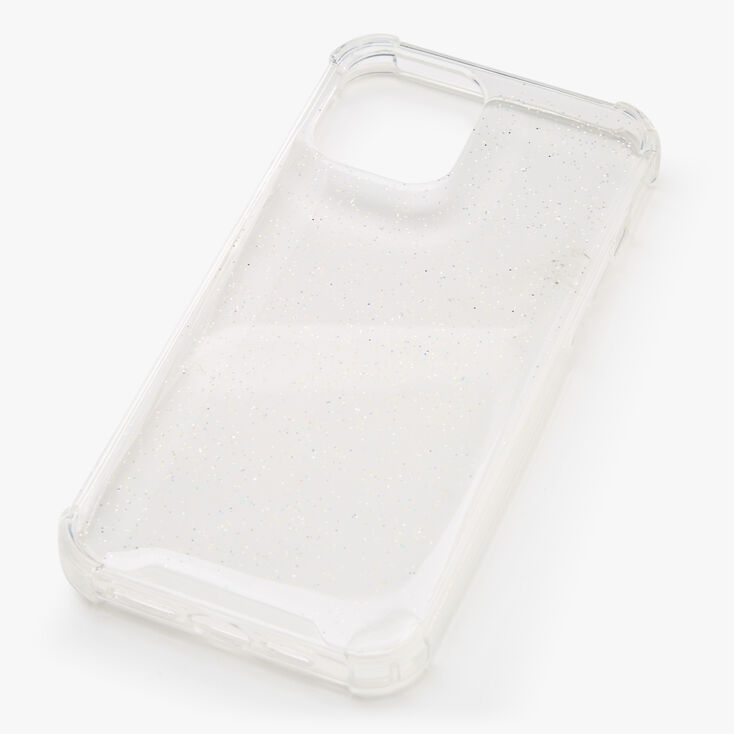 Clear Glitter Protective Phone Case - Fits iPhone 12 Pro Max,