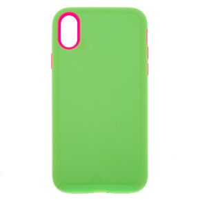 Neon Green Protective Phone Case - Fits iPhone XR,
