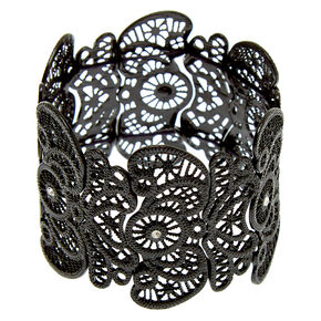 Hematite Crochet Stretch Bracelet,