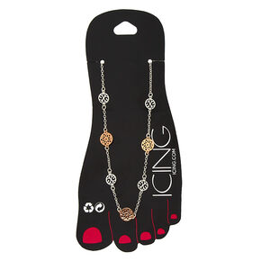 Mixed Metal Filigree Anklet,