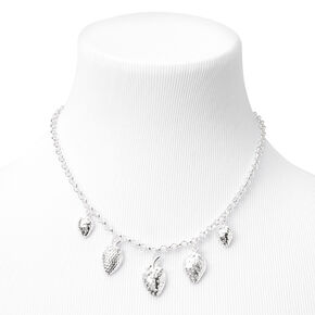 Silver Strawberry Charm Chain Necklace,