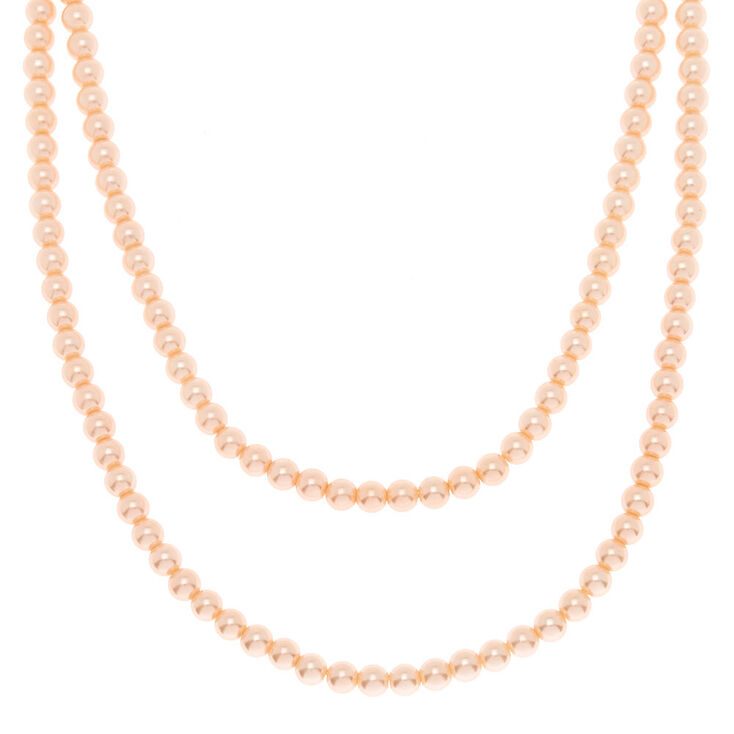 Blush Pearl Long Pendant Necklace,