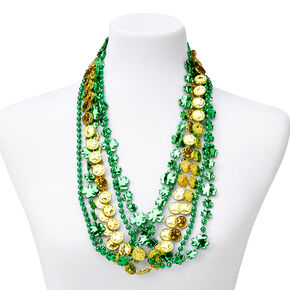 Lucky Coins Shamrock Necklace - Green,
