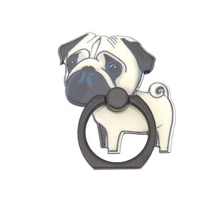 Sad Pug Ring Stand - White,