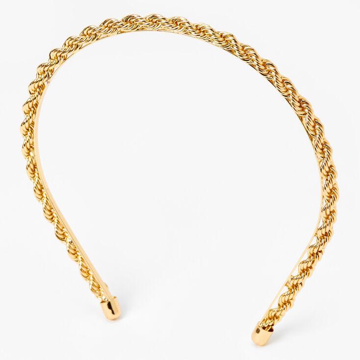Twisted Gold Chain Headband,