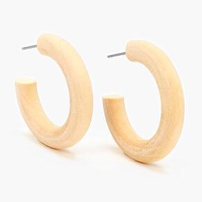 30MM Thick Wooden Hoop Earrings,