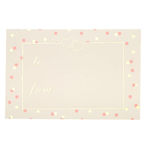 Pink & Gold Polka Dot Card,