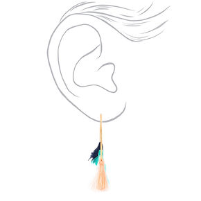 40MM Tassel Hoop Earrings - Green,