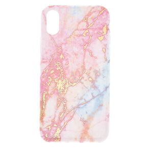 Pink Pastel Marble Phone Case - Fits iPhone X/XS,