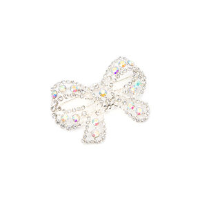 Iridescent Crystal Bow Bridal Brooch,