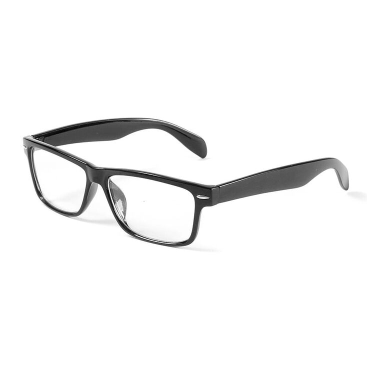 Rectangle Clear Lens Frames - Black,