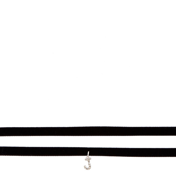 """""""S"""" Initial Choker Necklace 2 Pack,"""