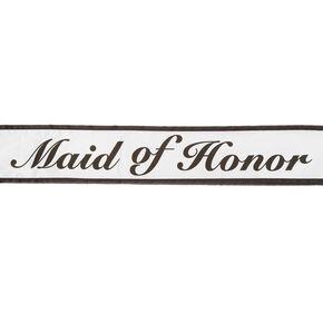 Black & White Maid of Honor Sash,