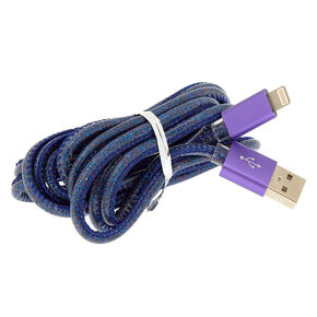 Cosmic Lightning USB Cord - Blue,