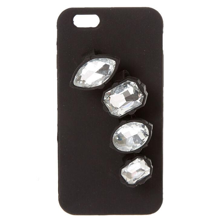 Black Gem Holder Phone Case - Fits iPhone 6/6S,