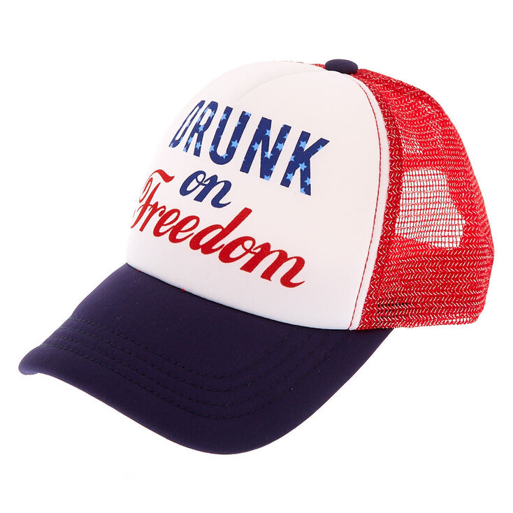 Drunk on Freedom Trucker Hat,
