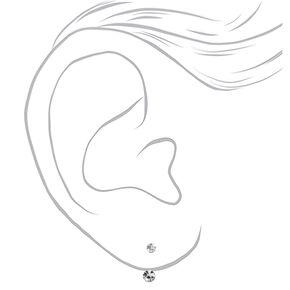 Sterling Silver Crystal Ear Jacket Earrings,