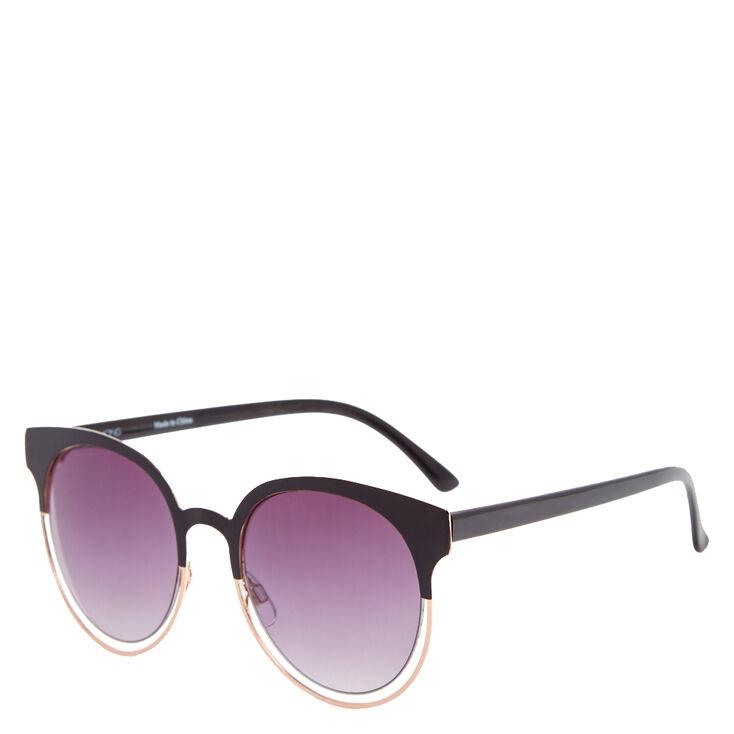 Black Mod Round Sunglasses,