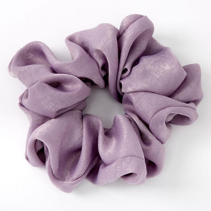 Giant Satin Hair Scrunchie - Mauve,