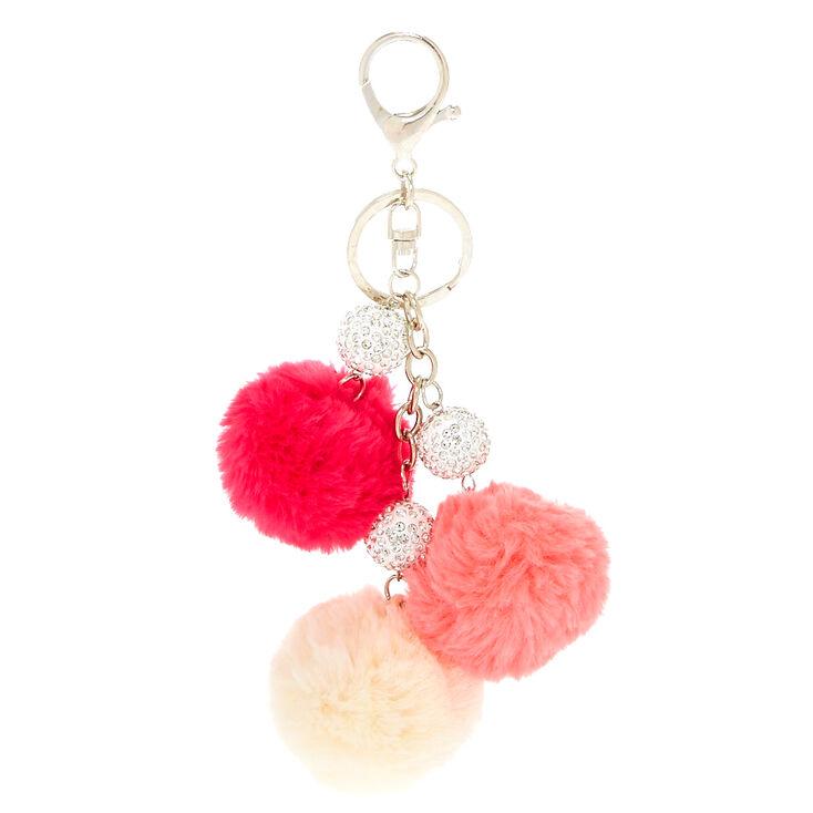 Pink Pom Pom & Fireball Keychain,