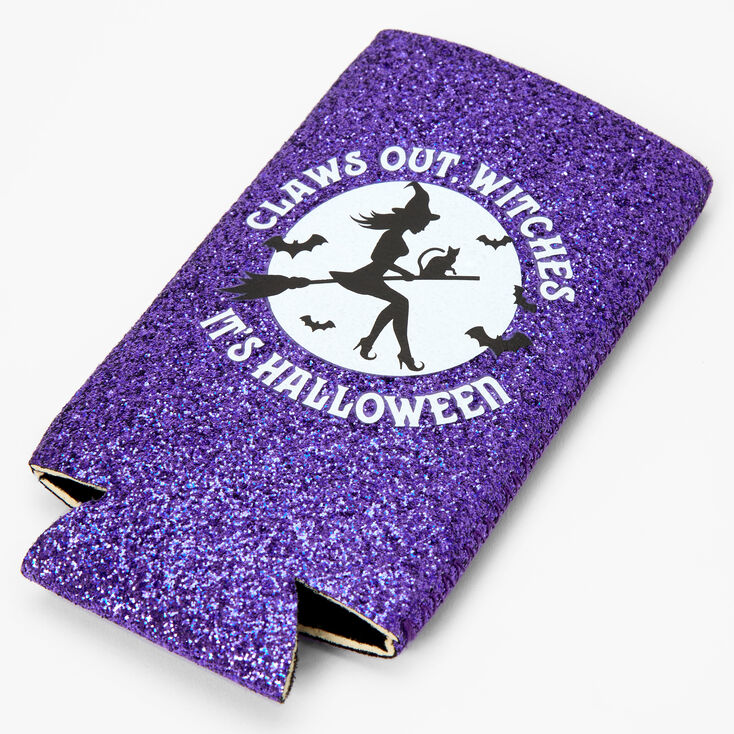Claws Out, Witches Koozie - Purple,