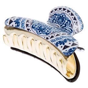 Mosaic Hair Claw - Blue,