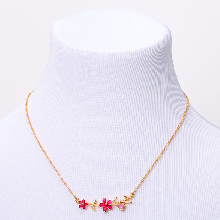 Gold Pretty Flower Jewelry Set - Pink, 2 Pack,