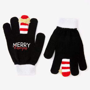 Merry Kiss My Ass Gloves - Black,