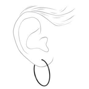 Mixed Metal Graduated Sleek Hoop Earrings - 3 Pack,