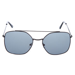 Square Aviator Sunglasses - Black,