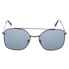 Square Aviator Sunglasses - Black,