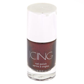 Shimmer Nail Polish - Dark Cherry Red,