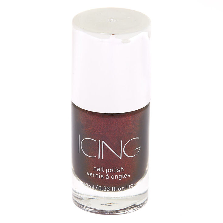 Shimmer Nail Polish - Dark Cherry Red,