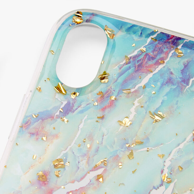 Gold Flecked Pastel Marble Phone Case - Fits iPhone XR,