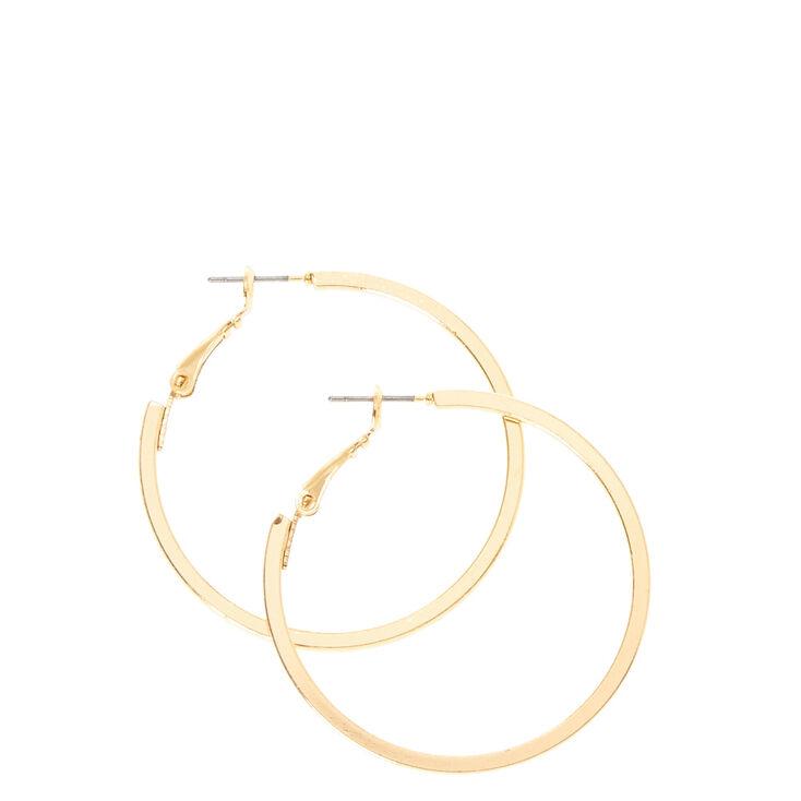 Squared Gold Hoop Earrings,