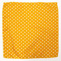 Polka Dot Bandana Headwrap - Yellow,