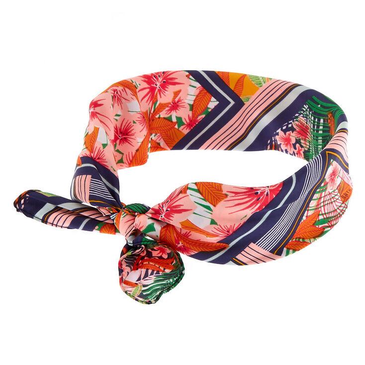 Tropical Tie Scarf Headwrap,