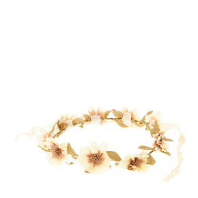 Gold Floral Flower Crown,