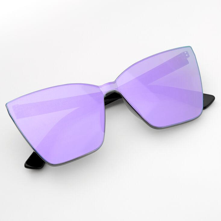 Tinted Shield Sunglasses - Purple,