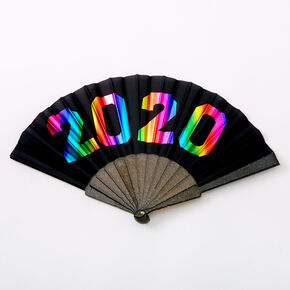 2020 Graduation Folding Fan - Black,