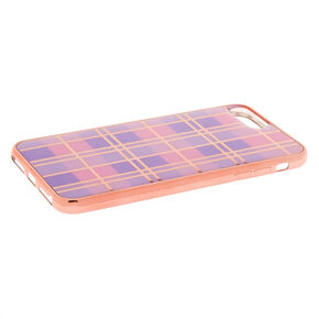 Pink Plaid Phone Case - Fits iPhone 6/7/8 Plus,
