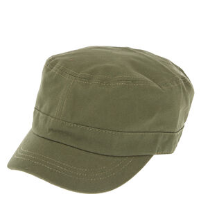 Dark Green Military Cap,